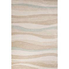 Contemporary Coastal Pattern Beige/Blue Polyester Area Rug (9' x 12') | Overstock.com Shopping - The Best Deals on 7x9 - 10x14 Rugs