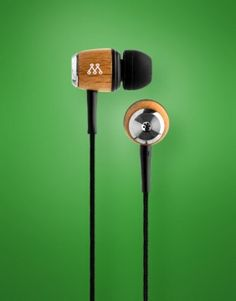 Muse Wooden Headphones: Very cool wood grain headphones. The first wooden earbuds I've seen. I think these are gorgeous.