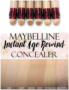 Maybelline Instant Age Rewind Concealer Swatches