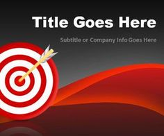 Red Target PowerPoint template is a free business PowerPoint background that you can download with an archery target design