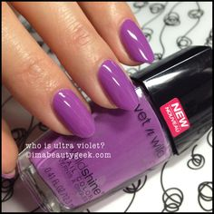 Wet 'n Wild Wild Shine Who is Ultraviolet? Cute Pink Nails, Purple Nails, Pretty Nails, Wet N Wild, Nails 2017, My Nails, Types Of Nails, Artificial Nails, Nail Decorations