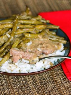 Take dinner off of mom's hands on Mothers Day with this $10 Fork Tender Steaks with Green Beans and Gravy recipe!