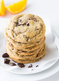 Orange, Chocolate Chunk and Sea Salt Cookies - Cooking Classy