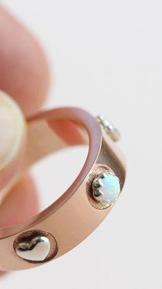 ff0156e8dd3 Rosegold ring Couple ring Unique ring Customizable ring Custom ring  Gemstone ring Anniversary ring Beautiful silver. Pandora RingsPandora  JewelryCute ...