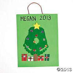 Christmas Tree Footprint Sign Craft Kit