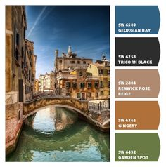 terra cottas and rich blues and olive greens inspired by italy venice living room office colors strong traditional Paint colors from Chip It! by Sherwin-Williams #chipit #sherwinwilliams