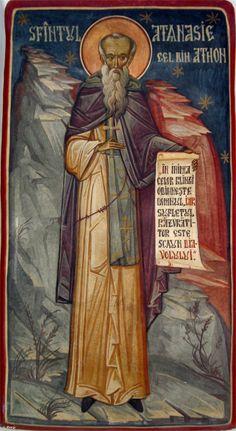 Scurtă istorie a Athosului | Sfântul Munte Athos Byzantine Icons, Catechism, Saints, Christianity, Spirituality, Sf, Painting, Fresco, Paintings