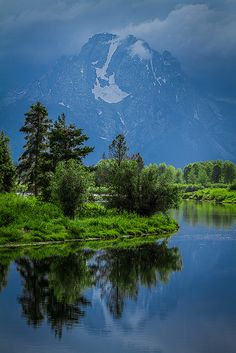 Stormy Skies over Mt. Moran, Grand Teton National Park, Wyoming