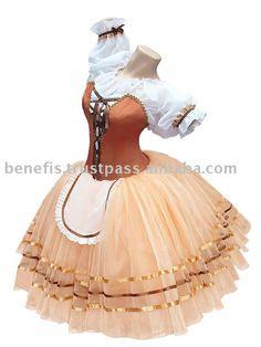 Ballet stage costume P 0506 for Peasant-pas de deux 1 act
