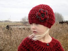 KNITTING PATTERN Baby hat  Slouchy hat  Knit by KnotEnufKnitting