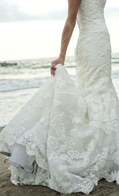 Enzoani Fifi gown...would be so pretty with a sparkly, detailed belt. Lord Jesus, I'm in love.