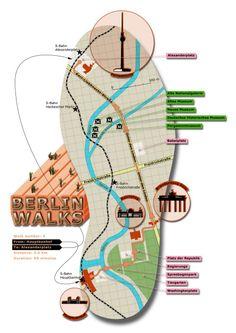 #Berlin walks #infographic - #travel destination