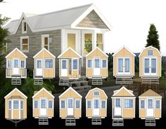 All twelve of these tiny house plans are designed with the same basic dimensions. So if you like the back wall of one house, the length of another, ...