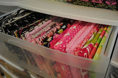 Sunla Designs: Mess Management Monday: Craft Room- Fabric Organization