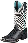 Ariat Womens Quickdraw Black Anteater Print Hair On Shaft Boots 10006718 Next Boots, Womens Cowgirl Boots, How To Make Clothes, Making Clothes, Zebra Print, Country Girls, Cute Shoes, Rubber Rain Boots, Cowboy Hats