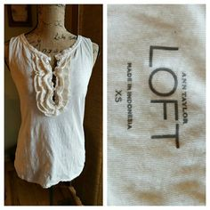 Tank A sweet tank with just enough ruffle to make it dress it up or keep it casual. LOFT Tops Tank Tops