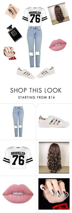 """Untitled #19"" by andreeabudai ❤ liked on Polyvore featuring Topshop, adidas Originals, Boohoo and Lime Crime"
