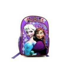"Disney Frozen Anna and Elsa 16"" Glitter Backpack - Listing price: $59.99 Now: $29.99"
