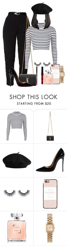 """""""Aimer La Vie"""" by melaninprincess-16 ❤ liked on Polyvore featuring Topshop, Yves Saint Laurent, Christian Louboutin, Casetify, Chanel and Marc by Marc Jacobs"""