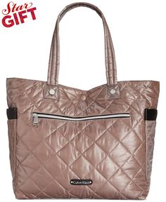 Calvin Klein Cire Reversible Extra Large Quilted Nylon Tote - Tote Bags - Handbags & Accessories - Macy's