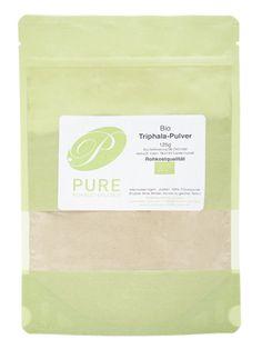 Triphala-Pulver / Dreifrucht, 125 g, Rohkostqualität und Bio, Ayurveda, Herkunft: Indien - PureRaw