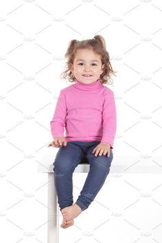 Girl smiling by De todo un poco on @creativemarket