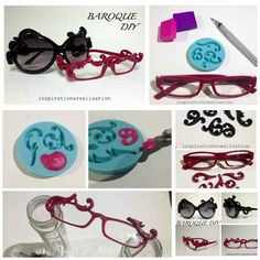 Baroque Designs | 27 Inspired Ways To Decorate Your Sunglasses