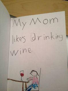 Cartões do Dia das Mães na vida real.