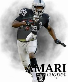 Amari Cooper Oakland Raiders Los Angeles Raiders Silver and Black