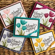 Tranquil Tulips, a hostess stamp set, absolutely beautiful