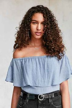 Kimchi Blue Erin Off-The-Shoulder Ruffle Top