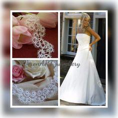 VERONART tatting - hajócsipke - frivolitás One Shoulder Wedding Dress, Wedding Dresses, Fashion, Bride Dresses, Moda, Bridal Gowns, Alon Livne Wedding Dresses, Fashion Styles, Wedding Gowns