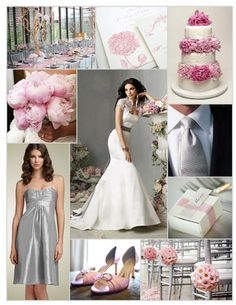 Flowers, Reception, Cake, Pink, Dress, Ceremony, Bridesmaids, Inspiration, Board, Jim hjelm, Silver, Shoes, Nordstrom