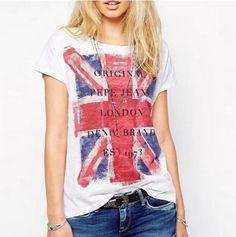 Dámské volné bílé triko s motivem anglické vlajky + POŠTOVNÉ ZDARMA Na  tento produkt se vztahuje 334cba8a22