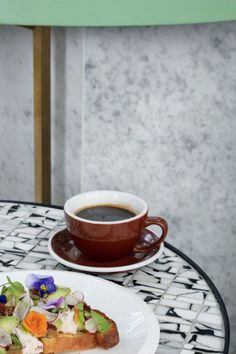 Melbourne-based interior design studio The Stella Collective has created an endless summer for Brighton's oldest coffee house, Redroaster. Cafe Interior, Interior Design Studio, Terrazzo, Brighton Cafe, Red Roaster, Seaside Cafe, Old Post Office, Eat Pretty, Mood Images
