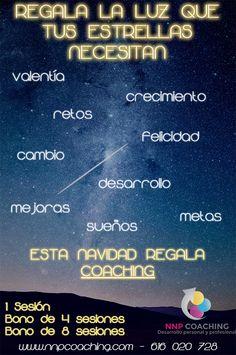 Regala la Luz que tus estrellas necesitan, esta Navidad Regala Coaching.  Promoción Navidad 2014