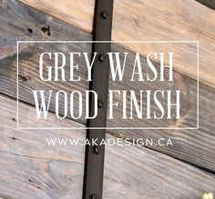 Awesome grey wash tutorial - with easy to find supplies! I'm using this on my next DIY project.