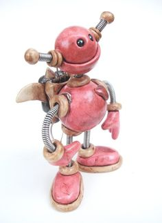 Famous Polymer Clay Artists | Polymer Clay Robot Sculptures_8