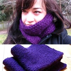 Purple Double Knit Scarf - knit with the Martha Stewart Knit & Weave Loom Kit from Lion Brand.  #imadethis