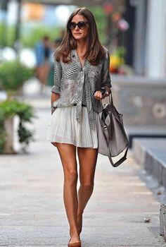 Olivia Palermo, falda blanca
