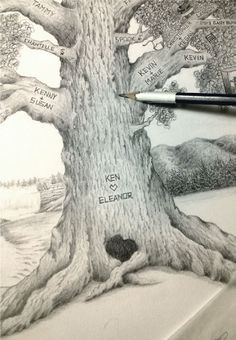 Hand-Illustrated Family Trees on Etsy!  Visit The Story Tree! www.story-tree.com