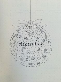 If you need bullet journal ideas for December, you should check these Christmas bullet journal ideas to inspire your next bujo monthly spread. Bullet Journal Inspo, Bullet Journal December, Doodle Bullet Journal, Bullet Journal Christmas, Bullet Journal Titles, Bullet Journal Cover Page, Bullet Journal Aesthetic, Bullet Journal Spread, Journal Covers
