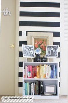duct tape stripes!  genius idea for apartment living!  // creolewisdom
