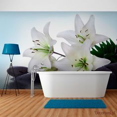 Pure White Lilies x Wallpaper East Urban Home White Lilies, Pure White, Decoration, Lily, Urban, Pure Products, Wallpaper, Home, Wall Papers