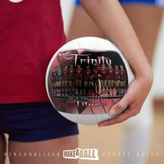 """The perfect end of season or """"good luck"""" team gift! Custom volleyball gifts for players, for teammates, and coach! Check out more photo customized sports gift ideas by Make A Ball  #volleyballgiftsforteammates#forcoach #forgirls #endofseason #bigsister #ideas #sister #personalized #goodluckteam #8thgradenight"""