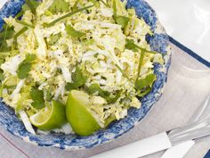 Savoy, Lime and Cilantro Coleslaw from FoodNetwork.com---goes perfectly with Spicy Pop Pulled Pork