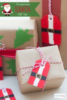 Make own christmas gift tags