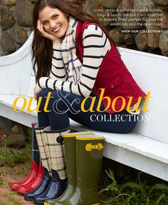 Out and About Collection. Iconic shirts and sweaters, hats and jackets, bags and boots. We put them together in layered looks for fall ...