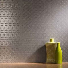 Aspect Backsplash Wide Hex Stainless Matted