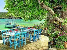 Seaside taverna in Agia Galini, South Crete
